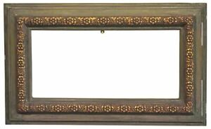 Russian 1920 Gilded Painted Picture Frame 9x20 Sku 1687