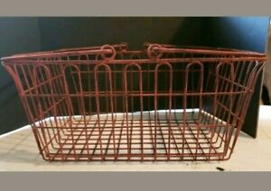 Unbranded Small 13 9 5 6 Vintage Metal Shopping Basket W Handles