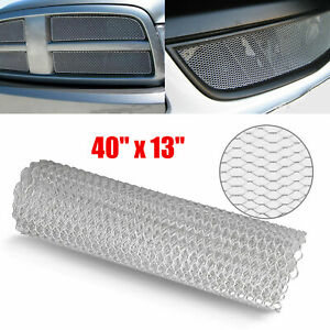 40 X13 Silver Universal Aluminum Car Vehicle Body Grille Net Mesh Grill Section