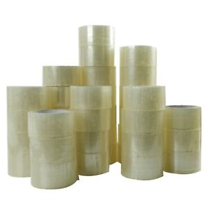 36 Rolls Carton Sealing Clear Packing Tape Box Shipping 2 Mil 2 X 55 Yards