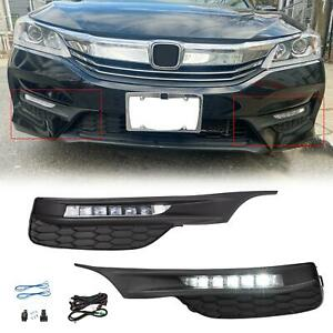 For 2016 2017 Honda Accord Sedan 4dr Led Fog Lights Bumper Lamps wiring switch