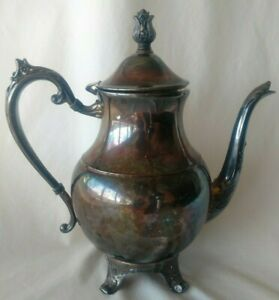 Antique F B Rogers Silver Co 1883 Silver Plated Coffee Teapot Gorgeous Patina