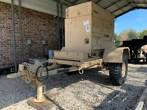 15kw Military Diesel Generator Fermont Mep 804a On 1 Ton Trailer Only 3 Hrs