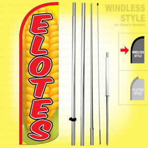 Elotes Windless Swooper Flag Kit 15 Corns Feather Banner Sign Yq h