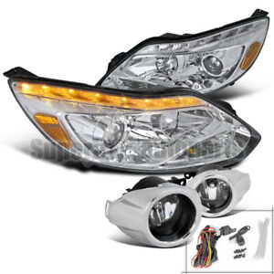 For 2012 2014 Ford Focus Led Signal Projector Headlights Fog Lights