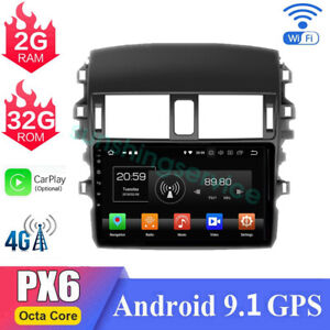 For Toyota Corolla 2009 2012 Car Radio Dvd Gps Stereo Player Bt 4g Android 9 1
