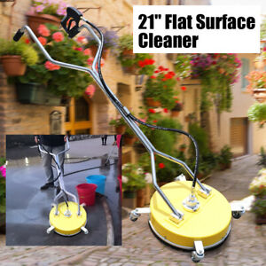 21 Flat Surface Cleaner High Pressure Washer Water Concrete Cleaning Trolley