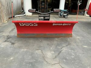 Boss Snowplow 7 6 complete Setup Superduty Series Fits Ford Superduty