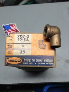25 3 4 Nibco Female 90s Cast Bronze Pressure usa new Old Stock Heavy Pattern