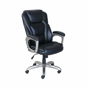 Office Chair Big Tall Swivel Adjustable Seat With Memory Foam Commercial Black