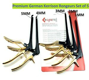 German Kerrison Rongeurs Black gold 1 2 3 4 5mm Cervical Orthopedic Surgical