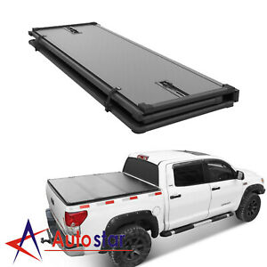 Lock Hard Tri Fold Tonneau Cover Fits For 2016 2019 Toyota Tacoma 5ft Bed