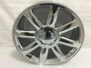 4pc 20 Pvd Chrome Wheels Rims For Gmc Yukon Sierra Denali 1500 Pickup New