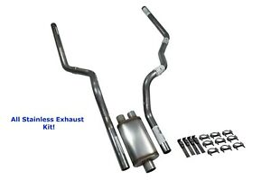 All Stainless Dual Exhaust Kit Ford F 150 04 14 Jones Full Boar Rear Exit