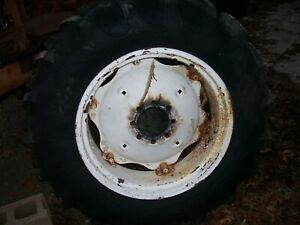 Vintage International 464 Tractor 8 Bolt Rear Wheel Tire 13 6 X 28