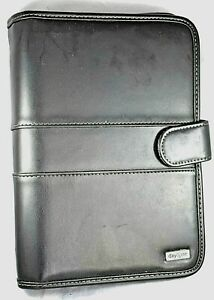 Day One By Franklin Cover Planner organizer Black Faux Leather 10 x 7 x 1 75