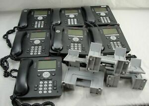 Lot 7 Avaya Ip Office Business Ip Phones 9608 W stands Cords Handsets 70050844