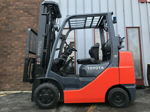 2014 Toyota 8fgcu30 6 000lb Cushion Tire Forklift Lease From 264 A Month