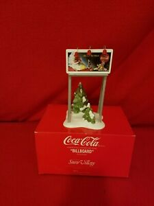 Dept 56 Snow Village Coca-Cola Billboard #54810 Christmas Village Accessory