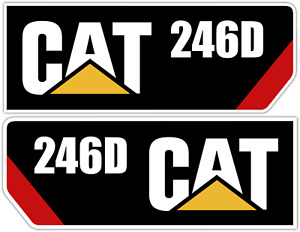 Cat 246d Set Of 2 Mirrored Caterpillar Diesel Power Industry Vinyl Decal Sticker