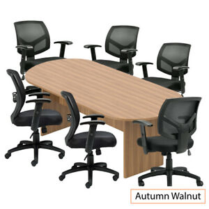 Gof 8ft Conference Table 6chair g11514b set cherry espresso Mahogany Walnut