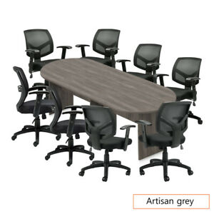 Gof 10ft Conference Table 8 Chair g11514b set cherry espresso mahogany walnut