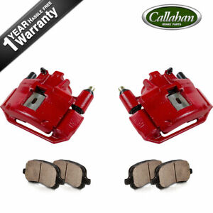 Front Red Brake Calipers And Ceramic Pads For 1994 1998 Ford Mustang Sn95