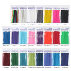 Azdent Dental Ortho Ligature Ties Elastic Rubber Bands 1000pcs bag 23 Colours