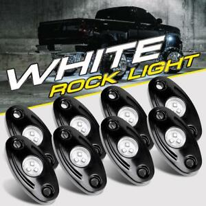 8pcs Underglow White Led Rock Lights Multicolor Neon Led Light For Jeep Off Road