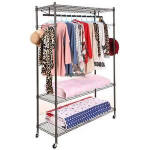 Heavy Duty Commercial Clothing Garment Roll Collapsible Rack Hanger Single rod U