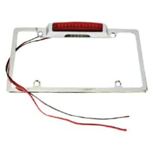 Racing Power Company R6270 License Plate Frame W Large Led Third Brake Light