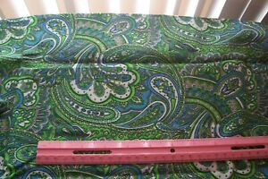 Genuine Vtg 1940 S 1950 S Quilt Dress Fabric Large Paisley 1 Yard