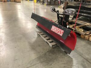 Used Boss Snow Plow W Controller 7 6 Ft Blade