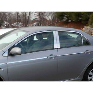 12p Luxury Fx Chrome Window Package w posts For 2009 2013 Toyota Corolla
