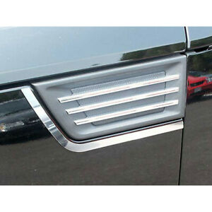 2pc Luxury Fx Stainless Steel Porthole Accent Trim For 2007 2009 Dodge Nitro 4d