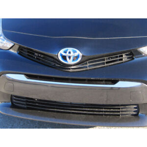 1pc Luxury Fx Stainless Steel Grille Accent Trim For 2012 2017 Toyota Prius V