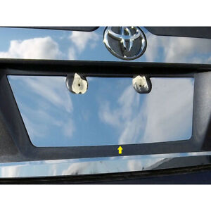 Luxury Fx Chrome License Plate Bezel For 2012 2014 Toyota Camry