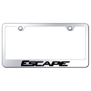 Stainless Steel License Plate Frame Officially Licensed For Ford Escape