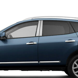 Pillar Post Covers For 2008 2013 Nissan Rogue stainless Steel 4pc