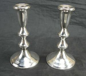 Vintage Duchin Creations Sterling Silver Candlestick Candle Holders 6 5 Tall