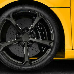 Black Cursive Caliper Covers For 2011 2020 Dodge Challenger By Mgp