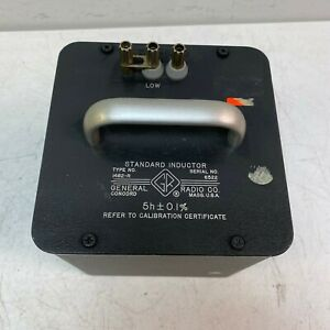 Gr General Radio Company Type 1482 r Standard Inductor Tested And Working