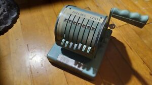 Vintage Rare Gray Paymaster 9000 Check Writer 7 Reel With Key Free Shipping