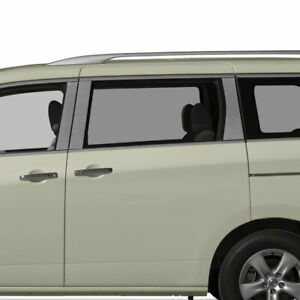Diamond Grade 6pc Stainless Steel Pillar Post Covers For 2011 2016 Nissan Quest