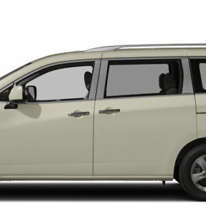 Diamond Grade 8pc Stainless Steel Pillar Post Covers For 2011 2019 Nissan Quest