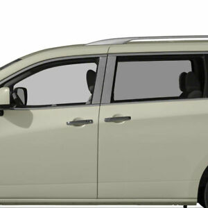 Diamond Grade 4pc Stainless Steel Pillar Post Covers For 2011 2016 Nissan Quest