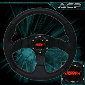 320mm Performance Steering Wheel Black red Stitch 6 Bolt Racing Track