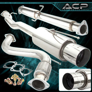Jdm Cat Back Catback Exhaust 4 5 Muffler Tip For 1994 1997 Honda Accord Cd3 Cd6