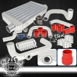 For 96 00 Civic Dx Lx Ex Si Type R Flange Piping Kit Power Intercooler Bov Clamp