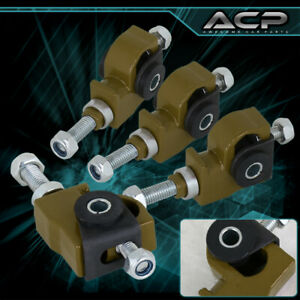 For 88 95 Honda Civic crx Green 4pc Adjustable Front Wheel Camber Control Kit